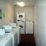 Laundry room at Sunny Bank Apartments in Lenox, MA